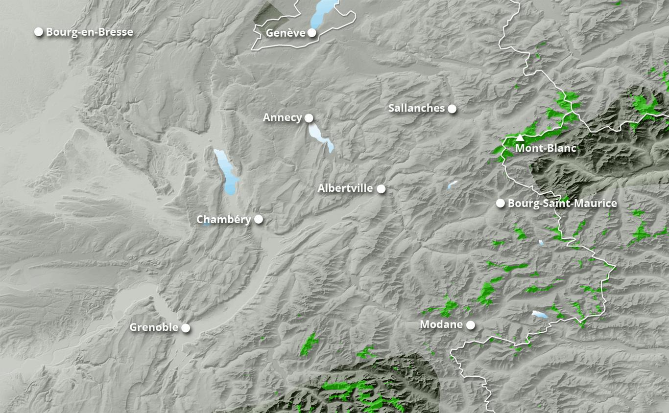 Cumul des chutes de neige à Bernex