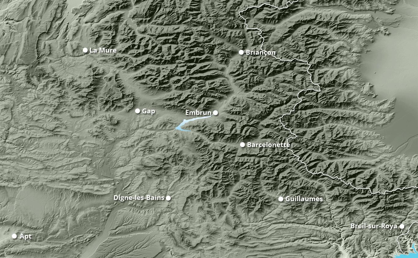 Cumul des chutes de neige aux Orres