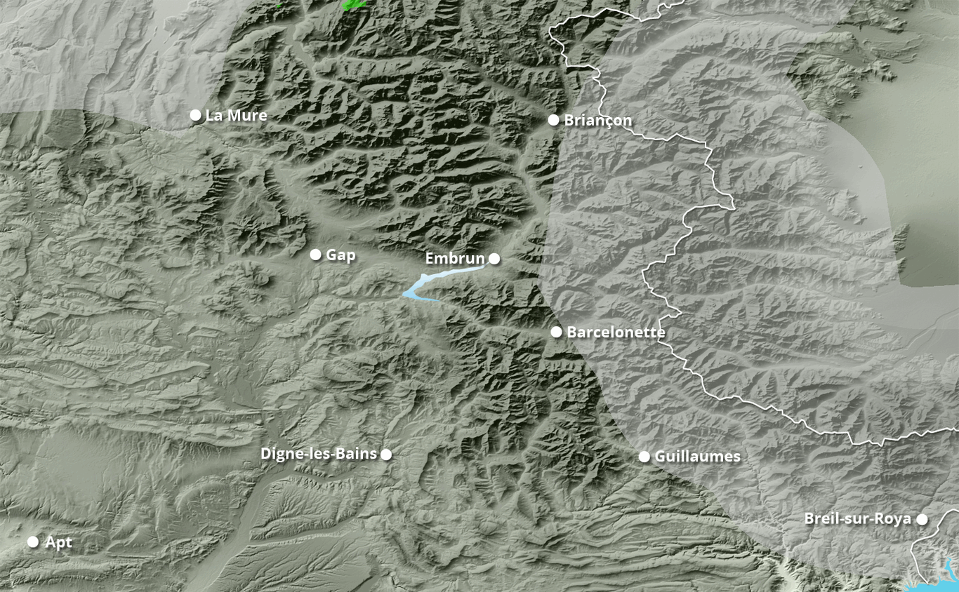 Cumul des chutes de neige à Risoul