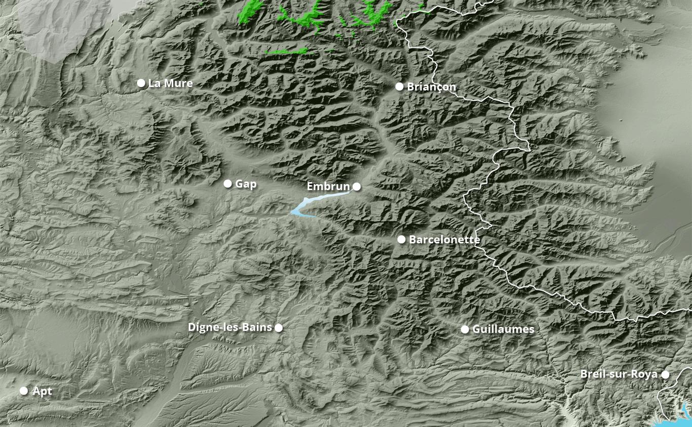 Cumul des chutes de neige à Pelvoux-Vallouise