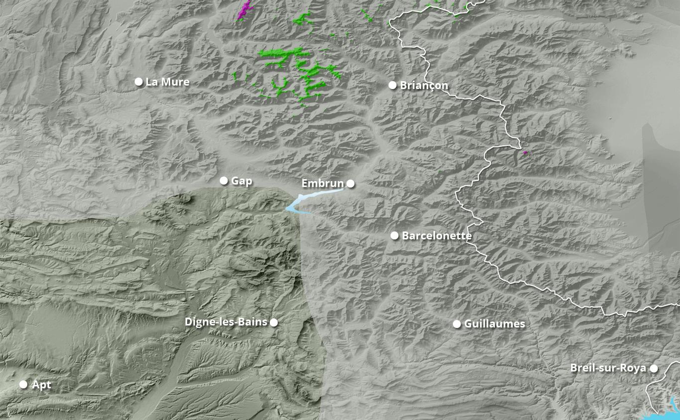 Cumul des chutes de neige à Ceillac