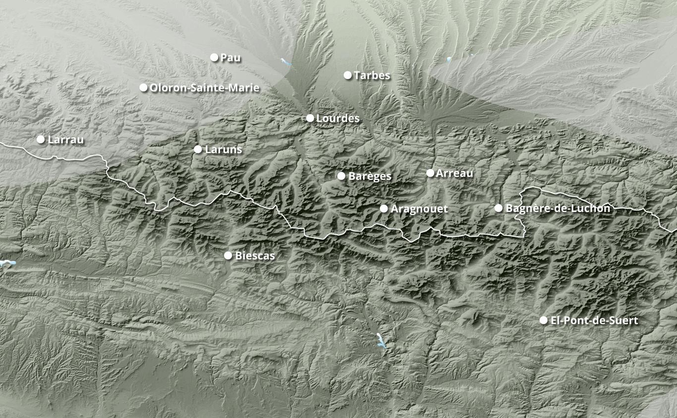 Cumul des chutes de neige à Formiguères