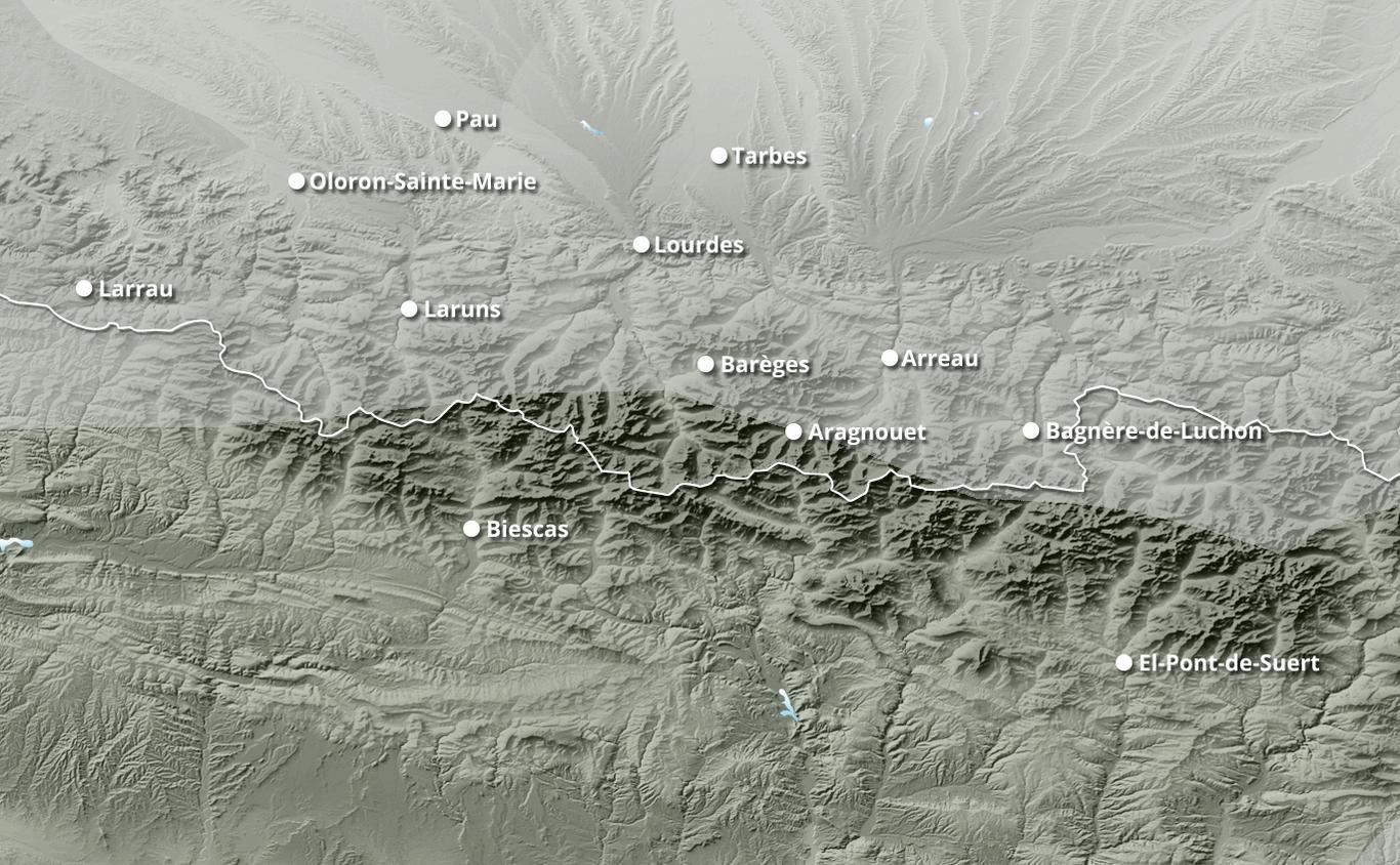 Cumul des chutes de neige à Piau Engaly