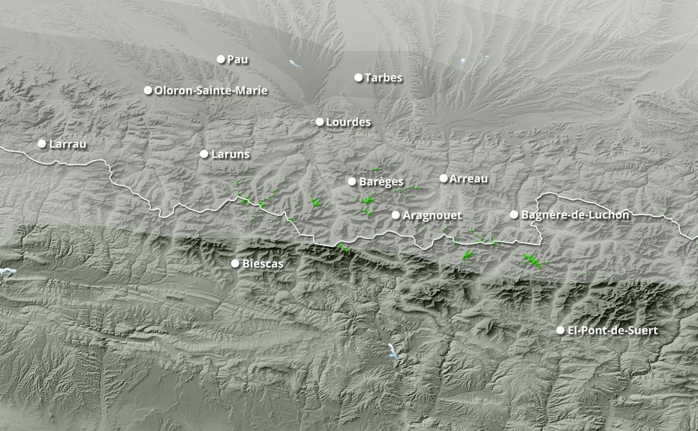 Cumul des chutes de neige à Gavarnie-Gèdre